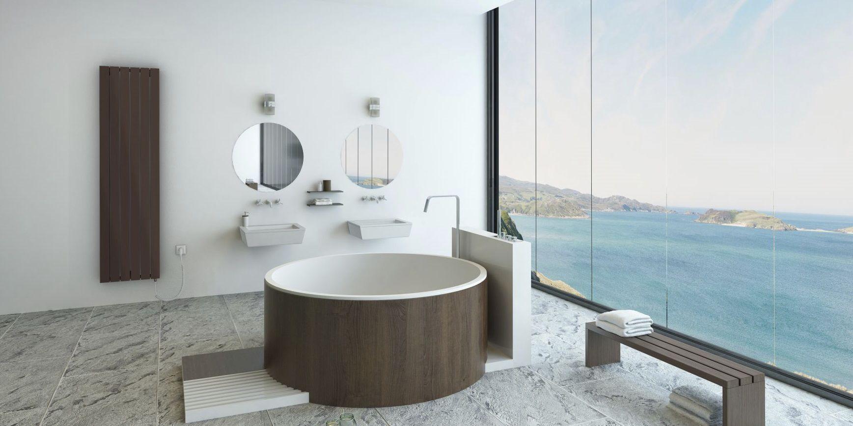 Radiatore elettrico in metallo moderno da bagno vital