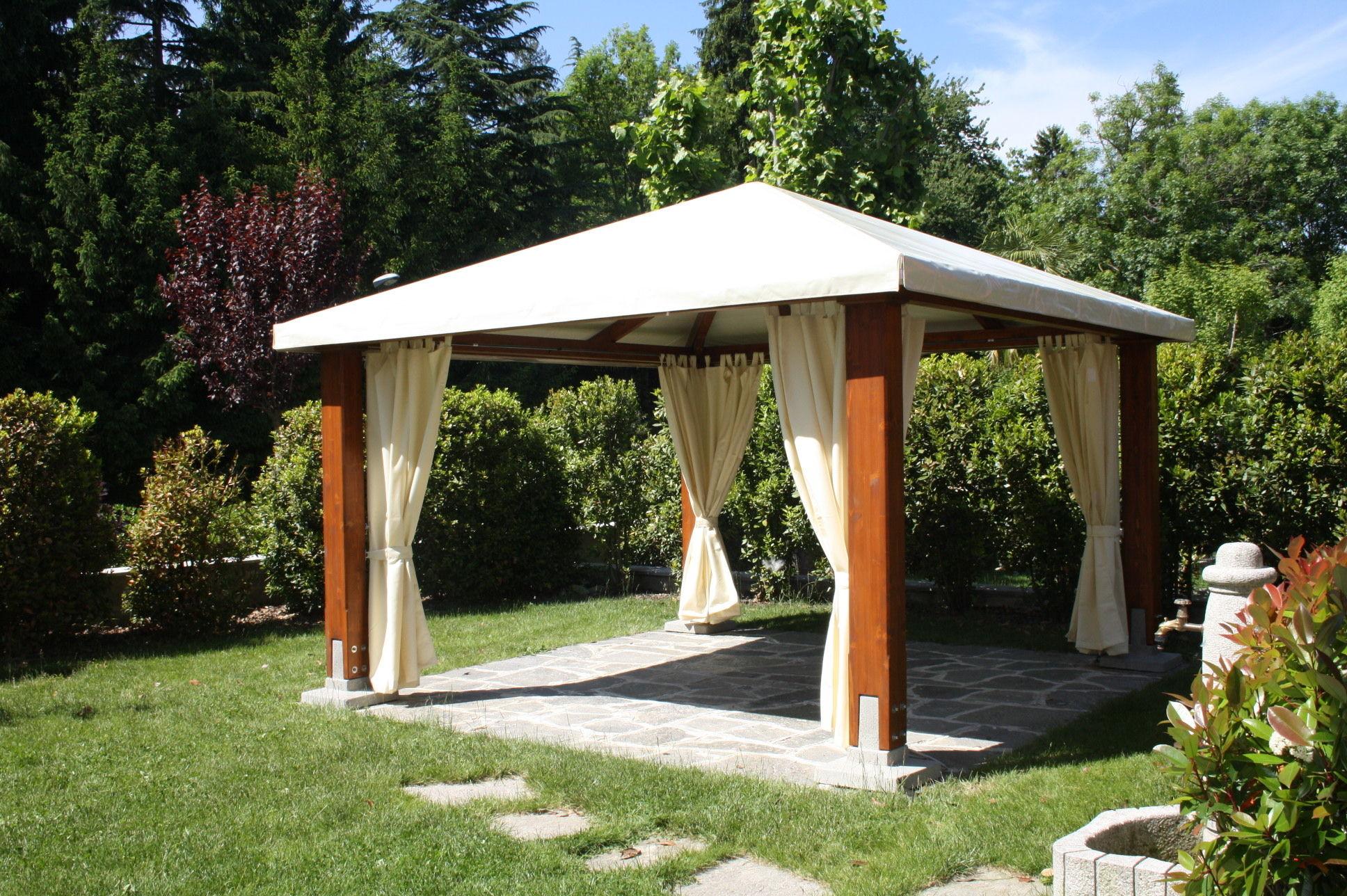 Gazebo in legno tetto in tela classic proverbio outdoor design