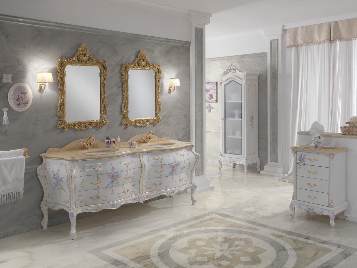 bagno in stile barocco in legno massiccio luxury finitura cracle
