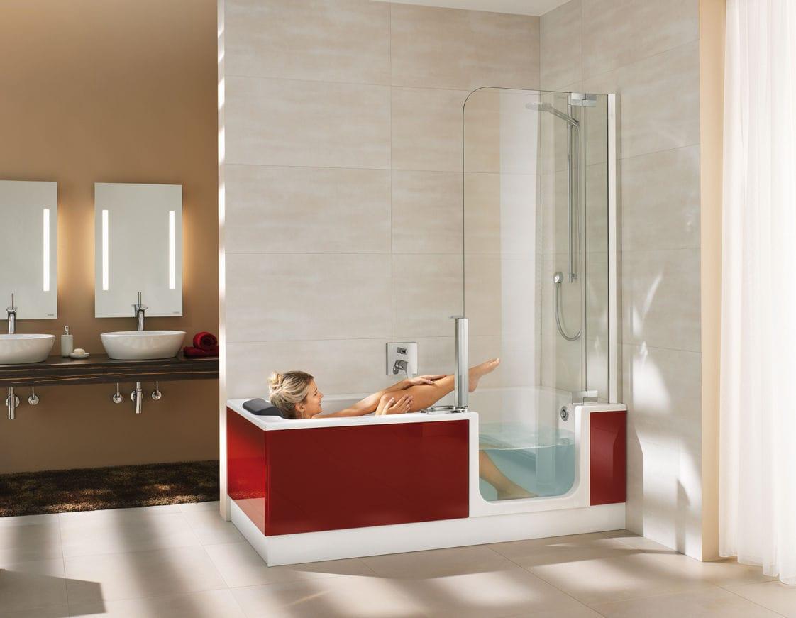 Vasca da bagno doccia da incasso rettangolare in acrilico