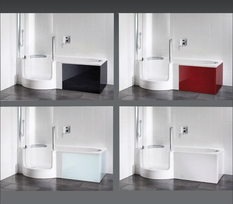 Rivestimento vasca da bagno rettangolare / in vetro - TWINLINE: 1 ...