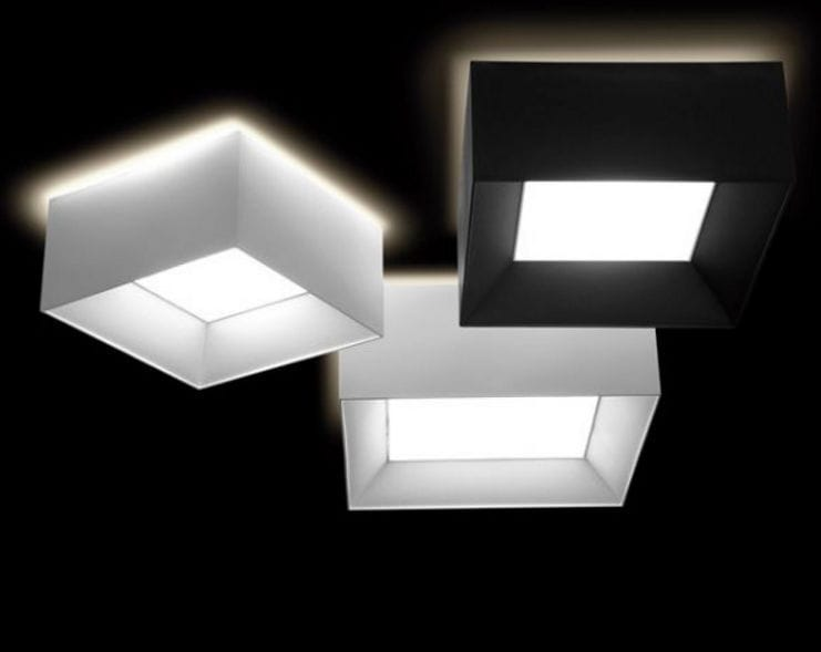 Plafoniere Quadrate In Tessuto : Plafoniera moderna quadrata in tessuto a lampada fluorescente