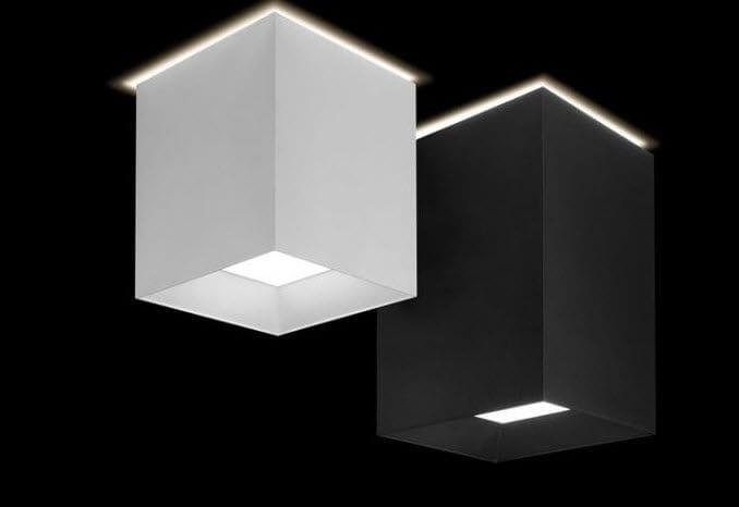 Plafoniera In Tessuto Prezzi : Plafoniera moderna quadrata in tessuto a lampada