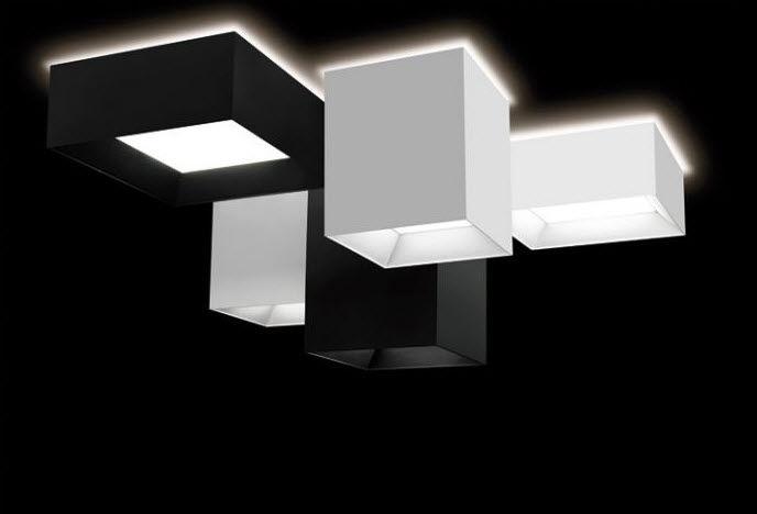 Plafoniera Tessuto Quadrata : Plafoniera moderna quadrata in tessuto a lampada