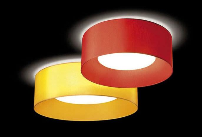 Plafoniera In Tessuto Prezzi : Plafoniera moderna tonda in tessuto a lampada fluorescente