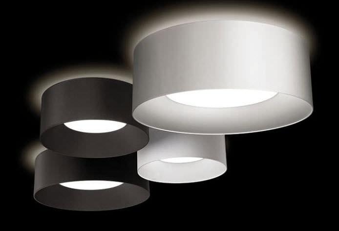 Plafoniera Tessuto Quadrata : Plafoniera moderna tonda in tessuto a lampada fluorescente