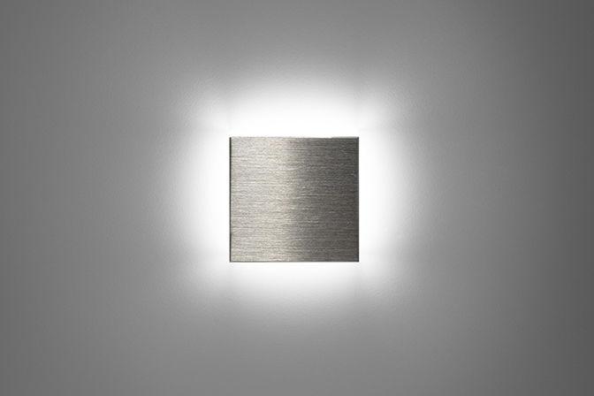 Luce da incasso a muro led quadrata da esterno square puraluce