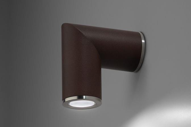 Plafoniera Ottone Esterno : Applique moderna da esterno in alluminio ottone up o