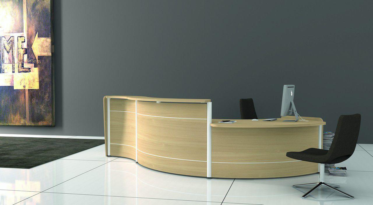 Scrivania Reception Ufficio : Banco reception a semicerchio modulare in legno reception