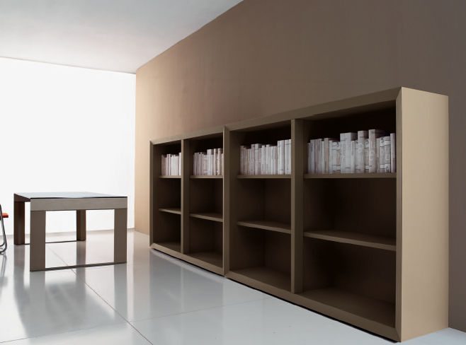 Scaffali Ufficio Design : Scaffale moderno in legno professionale per ufficio simposio