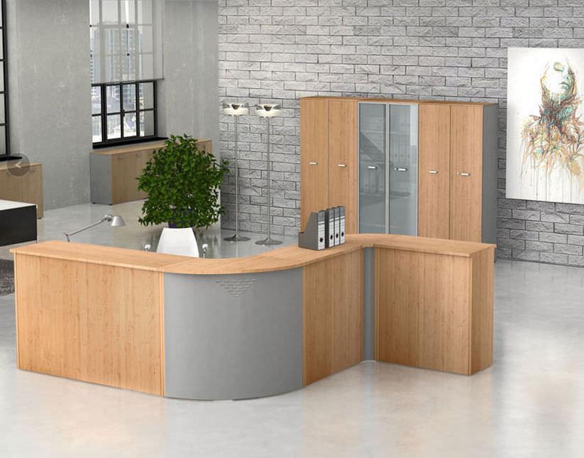 Reception Ufficio Legno : Banco reception in legno kamos newform ufficio
