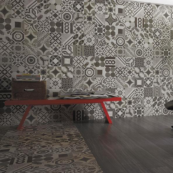 Piastrella da interno da parete in gres porcellanato a motivi