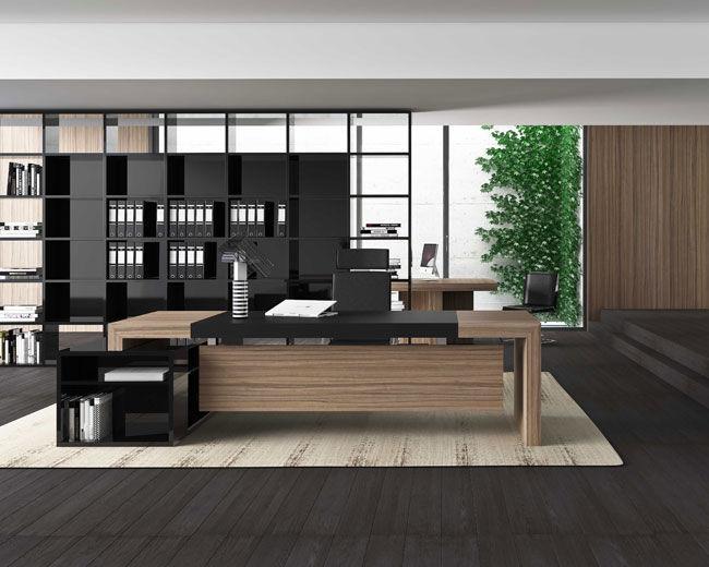 Scrivania Ufficio In Legno : Scrivania direzionale in legno moderna professionale cube