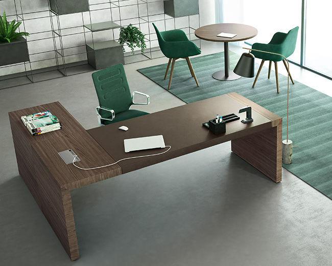 Ufficio Direzionale Legno : Scrivania direzionale in legno moderna contract soft