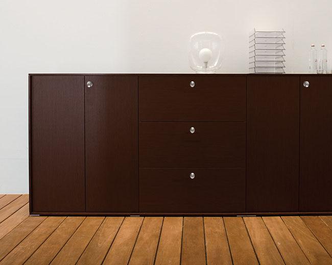 Armadio Ufficio Legno : Armadio classificatore basso alto in legno con sportello