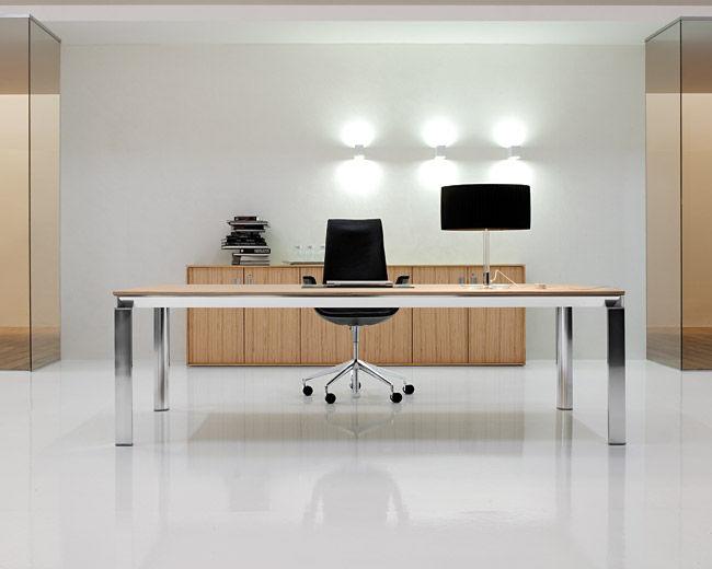 Scrivania Ufficio Legno Massello : Scrivania direzionale in legno in alluminio in vetro heat