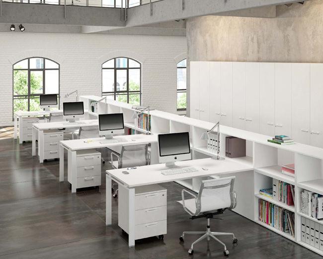 Mobili Per Ufficio In Metallo : Scrivania per open space in legno in metallo moderna fuji