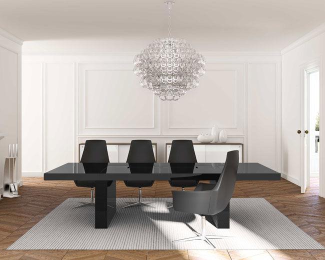 Tavolo Ufficio Legno : Tavolo da riunione moderno in legno rettangolare per edifici