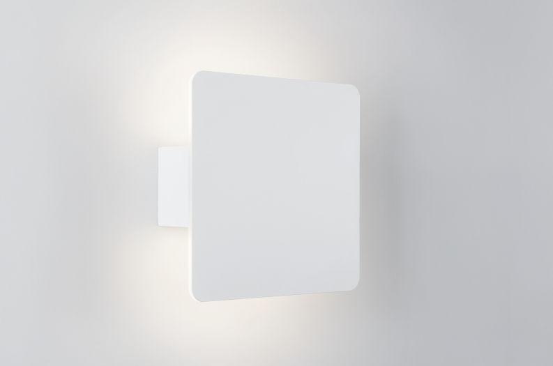 Applique moderna in metallo led quadrata app liques app