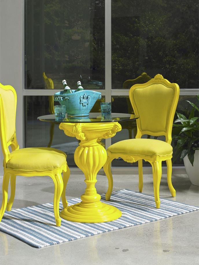 Poltrona Barocca In Plastica.Sedia Design Nuovo Barocco In Plastica In Legno 771do Am Sec