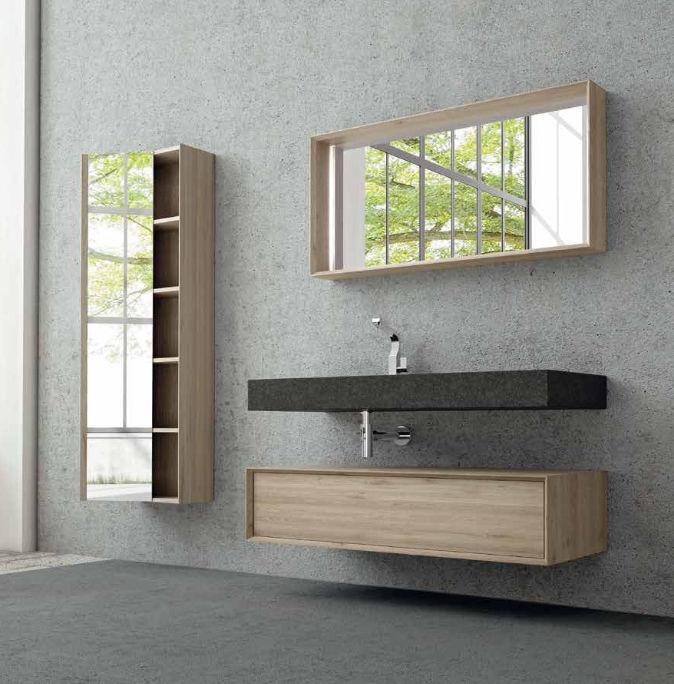 Mobile basso da bagno / da parete - HOUSE 111 - PUNTOTRE Srl