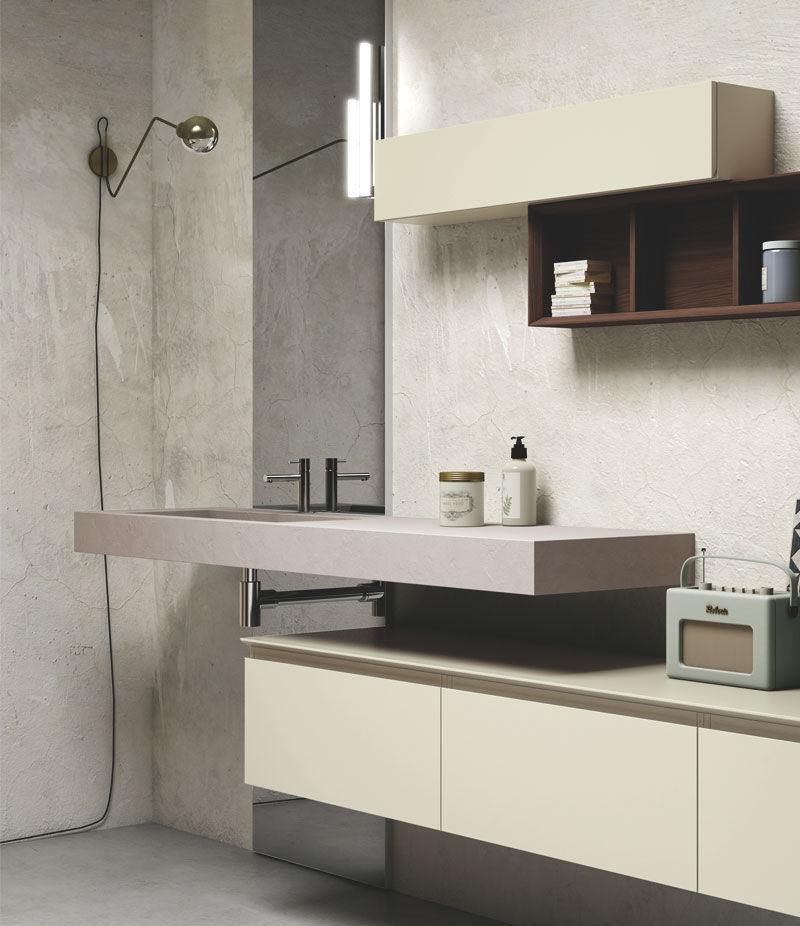 Mobile basso da bagno / da parete - COMPOSITION TM1 - PUNTOTRE Srl