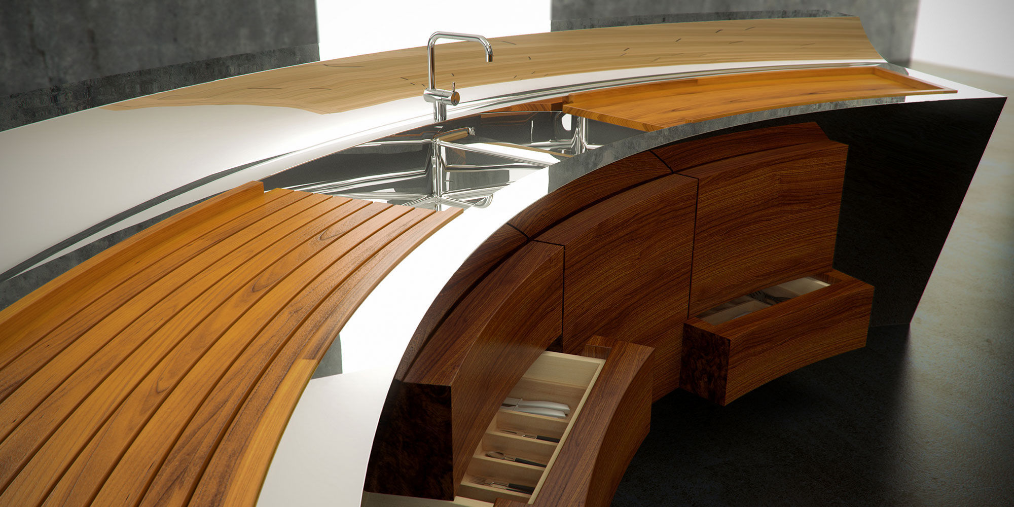 Emejing Cucina In Teak Contemporary - Embercreative.us ...