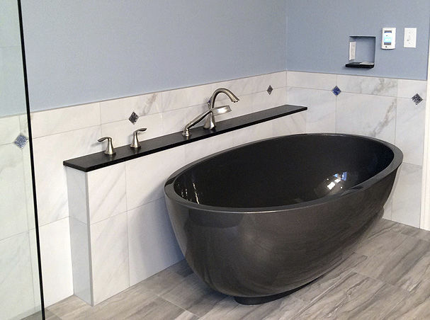 Vasca Da Bagno Ovale Piccola : Vasca da bagno ad isola ovale in pietra profonda petit