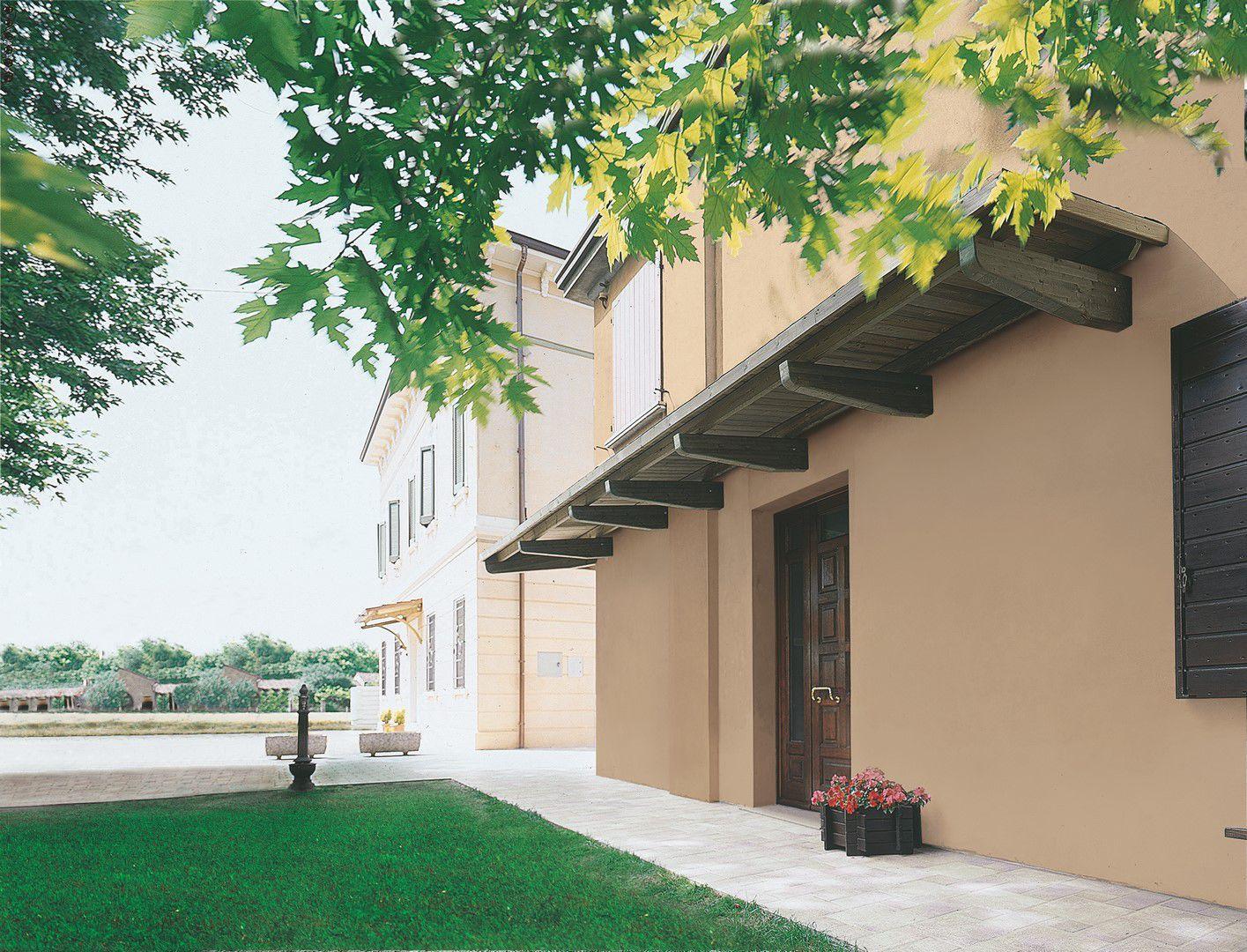 Tettoia per terrazzo / da ingresso / in legno - IL CEPPO