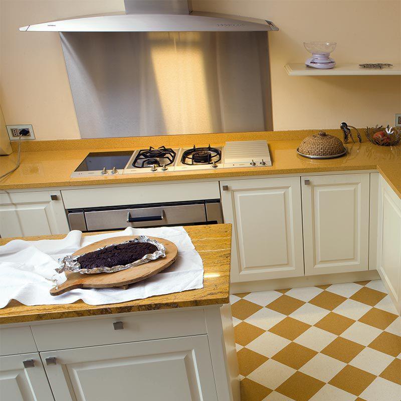Piano di lavoro in graniglia di marmo / da cucina - TOP SU MISURA ...