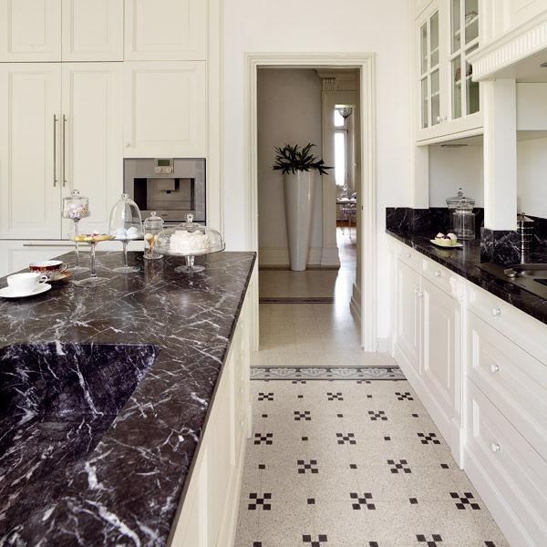 Piastrella da cucina / da pavimento / in graniglia di marmo / 20x20 ...