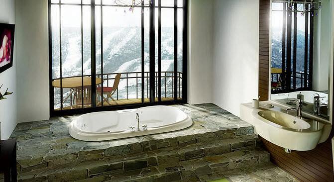 Vasca Da Bagno Infinity Prezzo : Vasca da bagno ovale in acrilico calla maax bathroom
