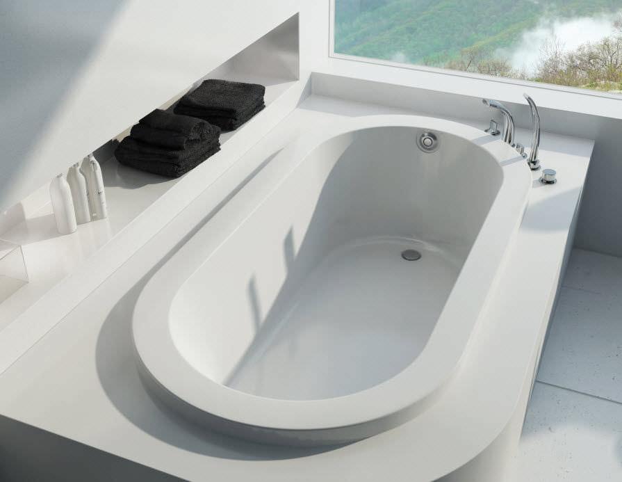 Vasca Da Bagno Jazz : Vasca da bagno ovale in acrilico okapi maax bathroom