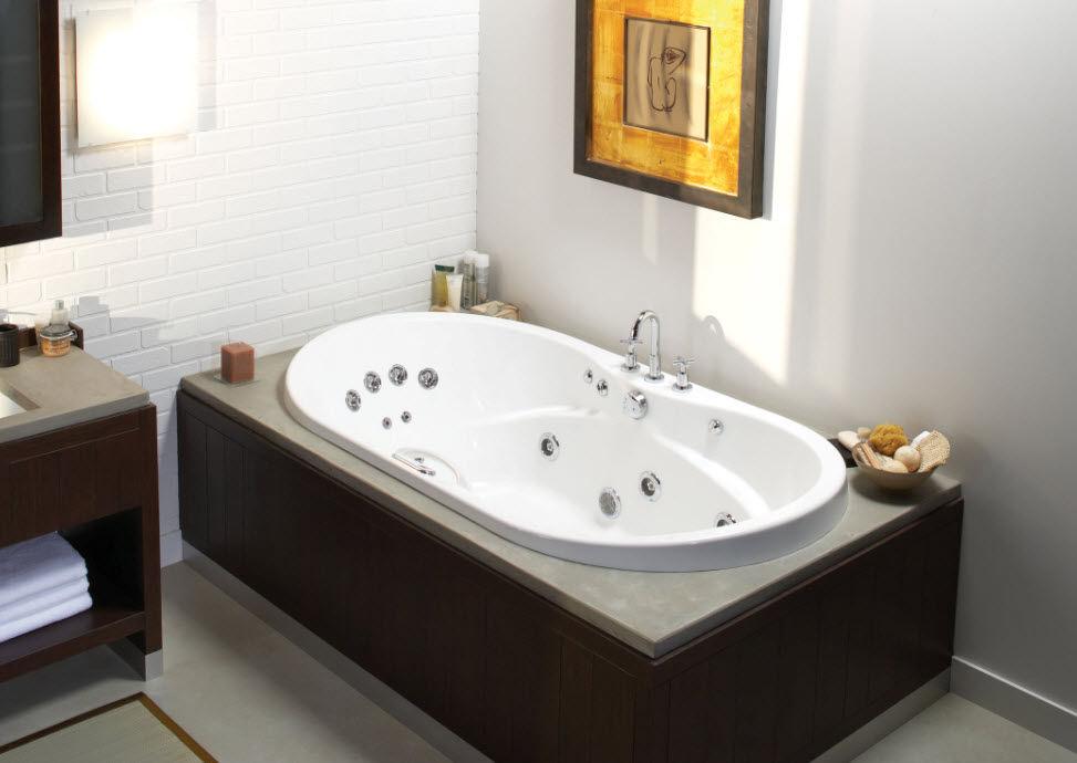 Vasca Da Bagno Incasso Ovale : Vasca da bagno ovale in acrilico idromassaggio living maax