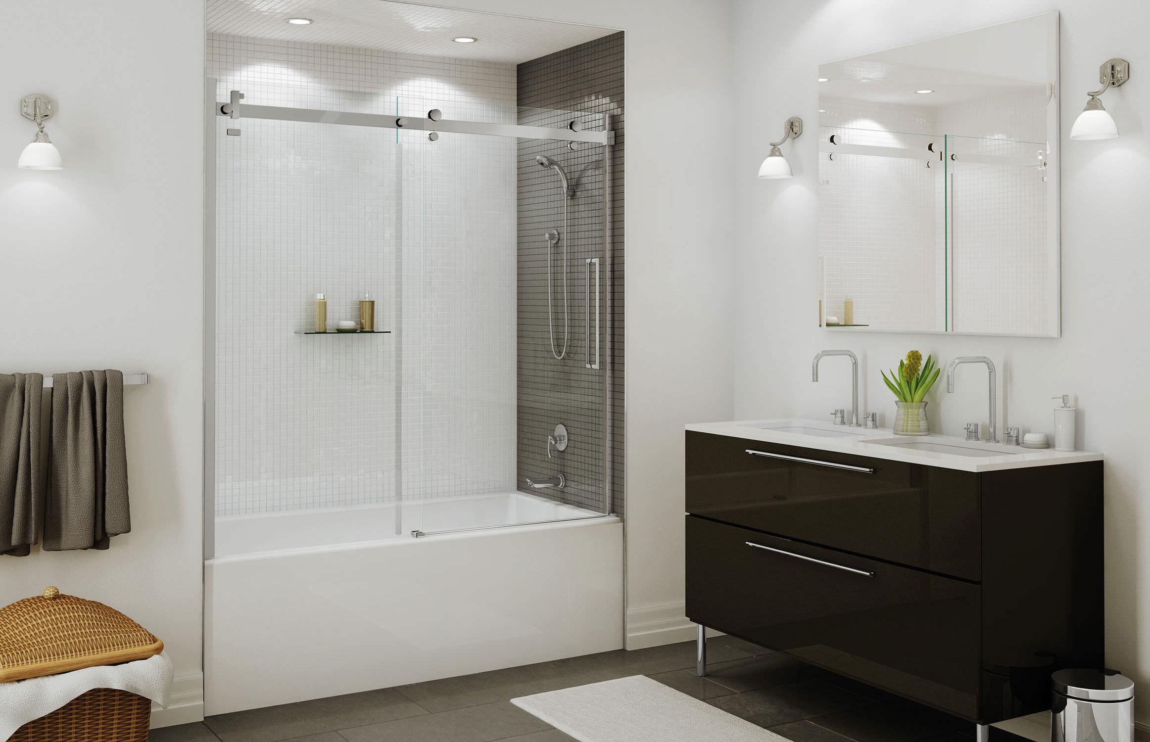 Paradoccia Vasca Da Bagno.Paradoccia Per Vasca Scorrevole Halo Maax Bathroom Video