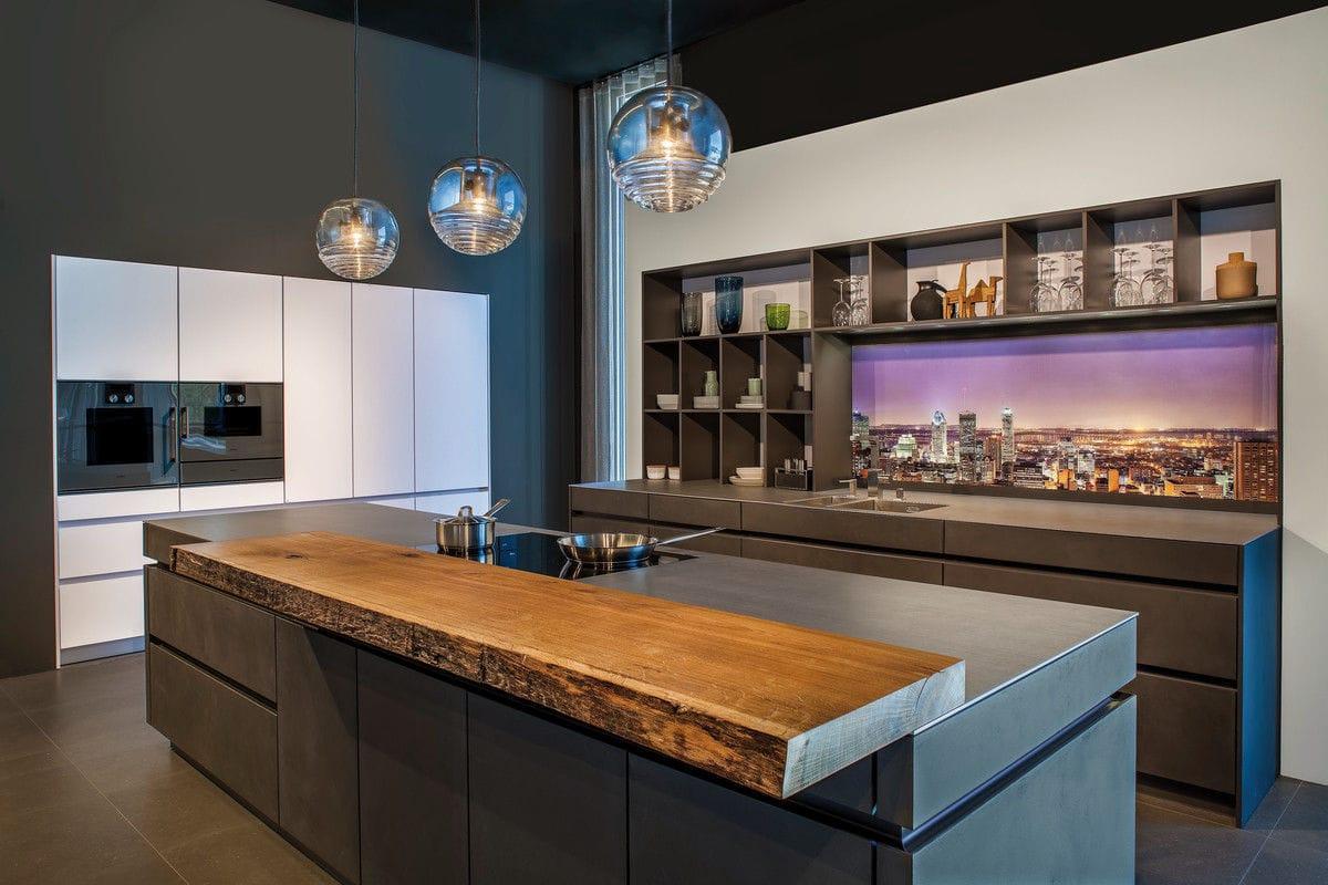 Pannello decorativo in vetro / per cucina / da parete / LED - REAR ...