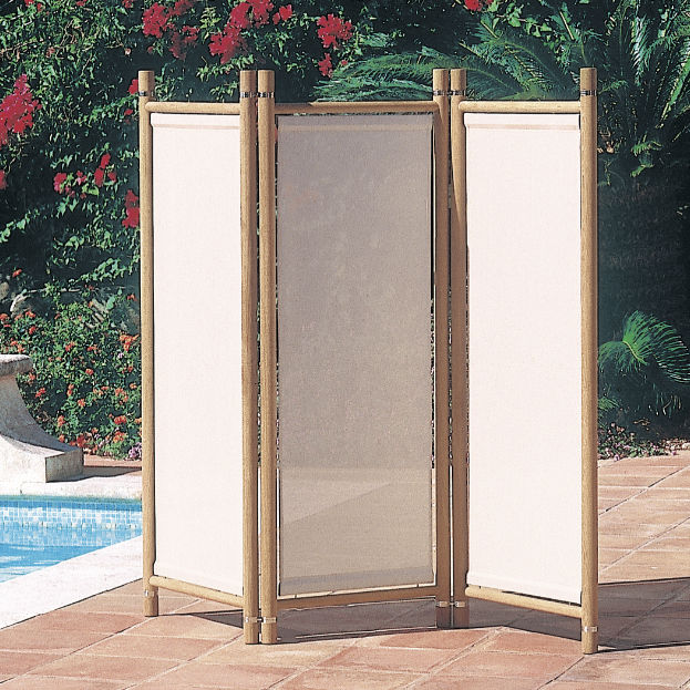 Paravento moderno / in legno / in Batyline® / da giardino - CLIFF by ...