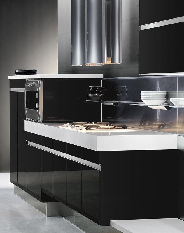 Cucina moderna / in legno / laccata / lucida - OSAKA - COMPREX