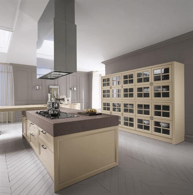 Cucina moderna / in legno / laccata - VINTAGE - COMPREX