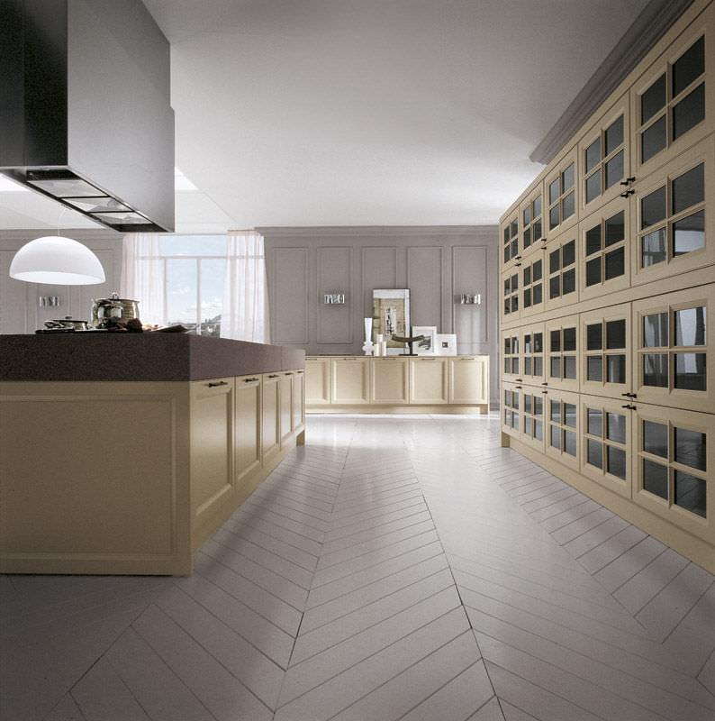 Cucina moderna / in legno / laccata / con impugnature - VINTAGE ...