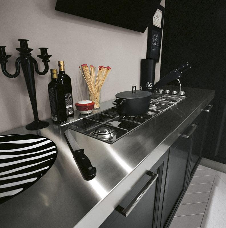 Piano di lavoro in acciaio inox / da cucina - VINTAGE - COMPREX