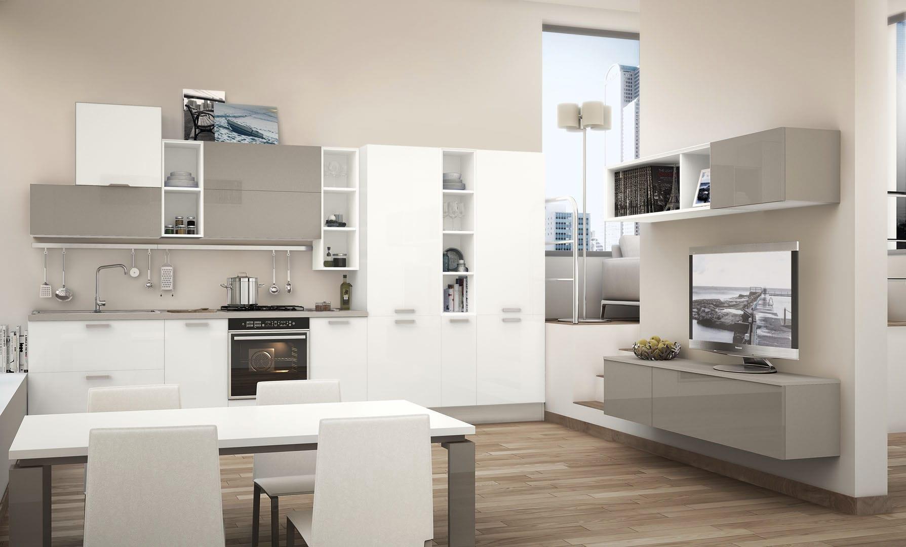 Cucina moderna / in legno / laccata / opaca - NOEMI - CUCINE LUBE ...