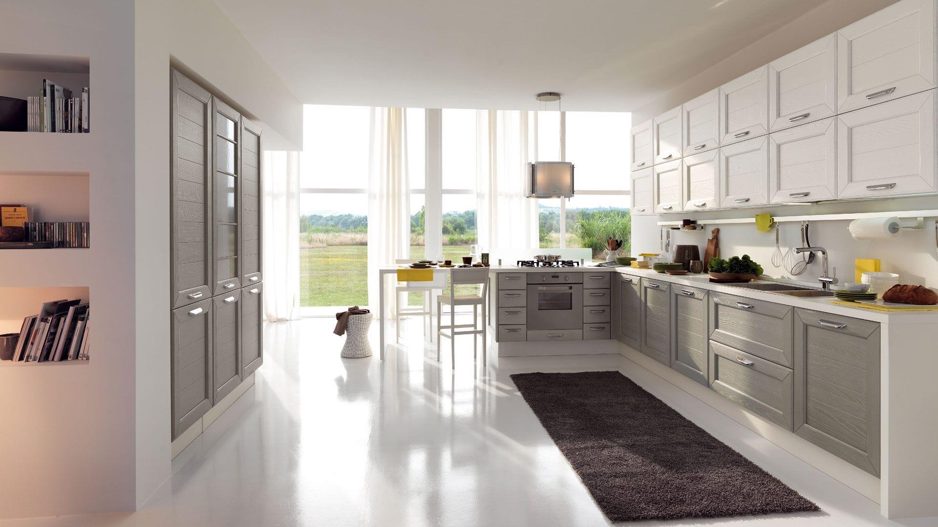 Cucina moderna / in legno / con impugnature - CLAUDIA - CUCINE LUBE ...