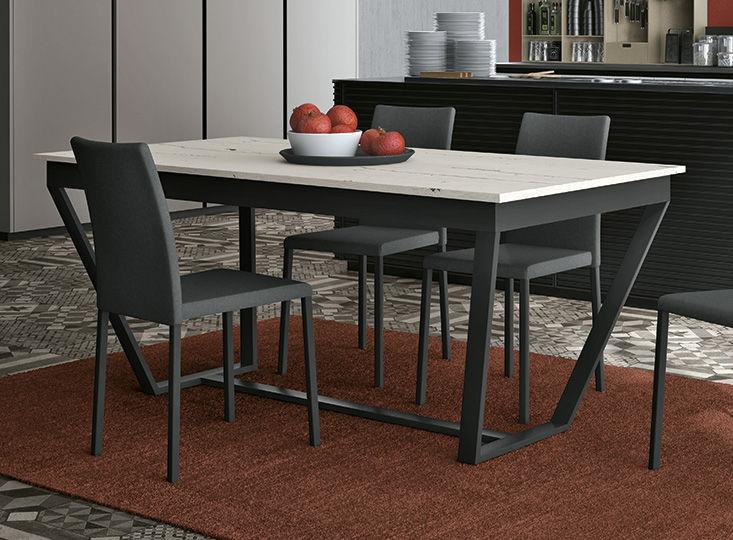 Tavolo moderno / in ferro / in laminato / rettangolare - INCLINE ...