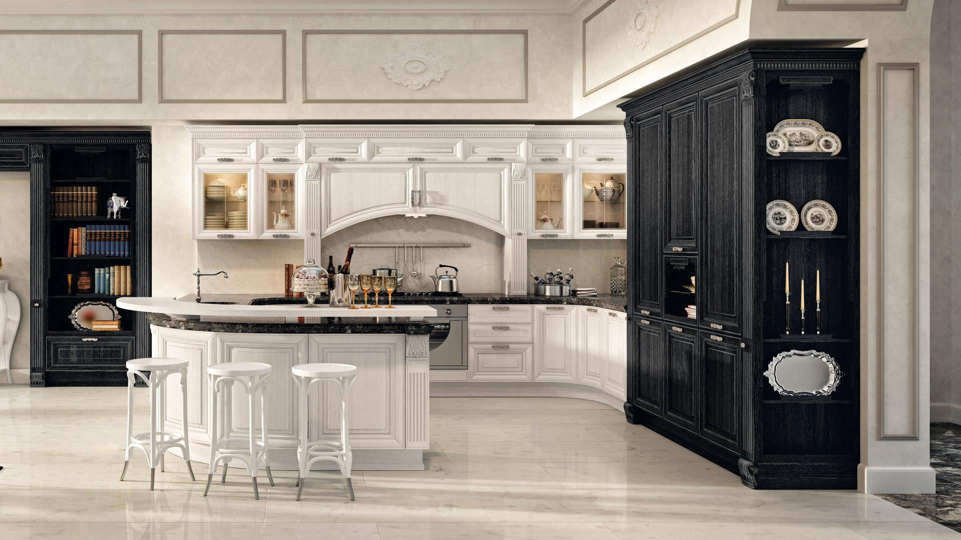 Cucina classica / impiallacciata in legno - PANTHEON - CUCINE LUBE ...
