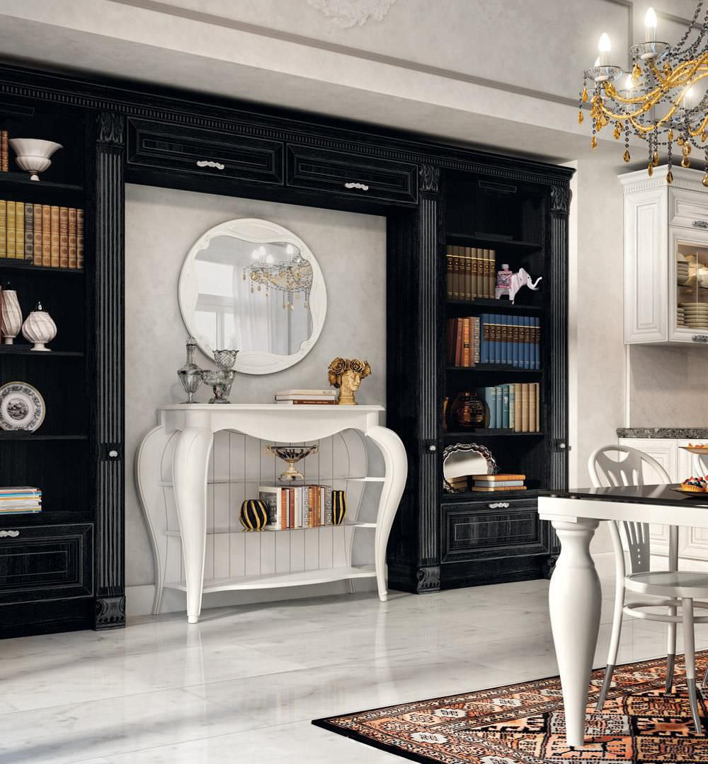 Cucina classica / impiallacciata in legno / con impugnature ...