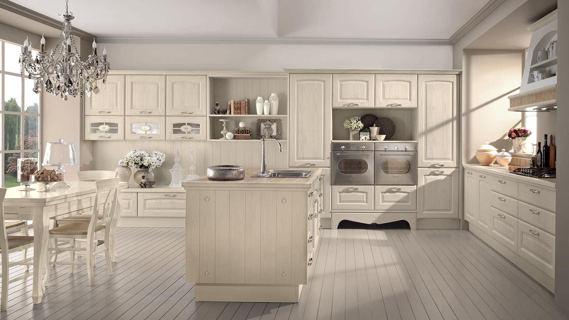 Cucina classica / in legno massiccio / con isola - VERONICA ...