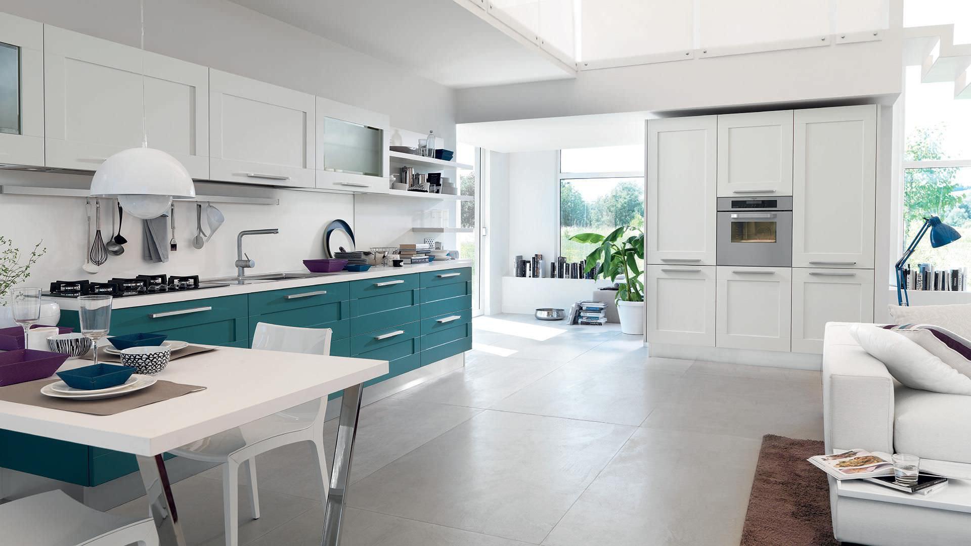 Cucina moderna / in legno / con impugnature - GALLERY - CUCINE LUBE ...