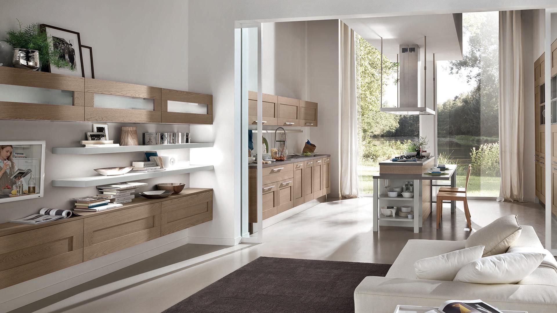 Parete attrezzata per soggiorno moderna / in legno laccato - GALLERY ...