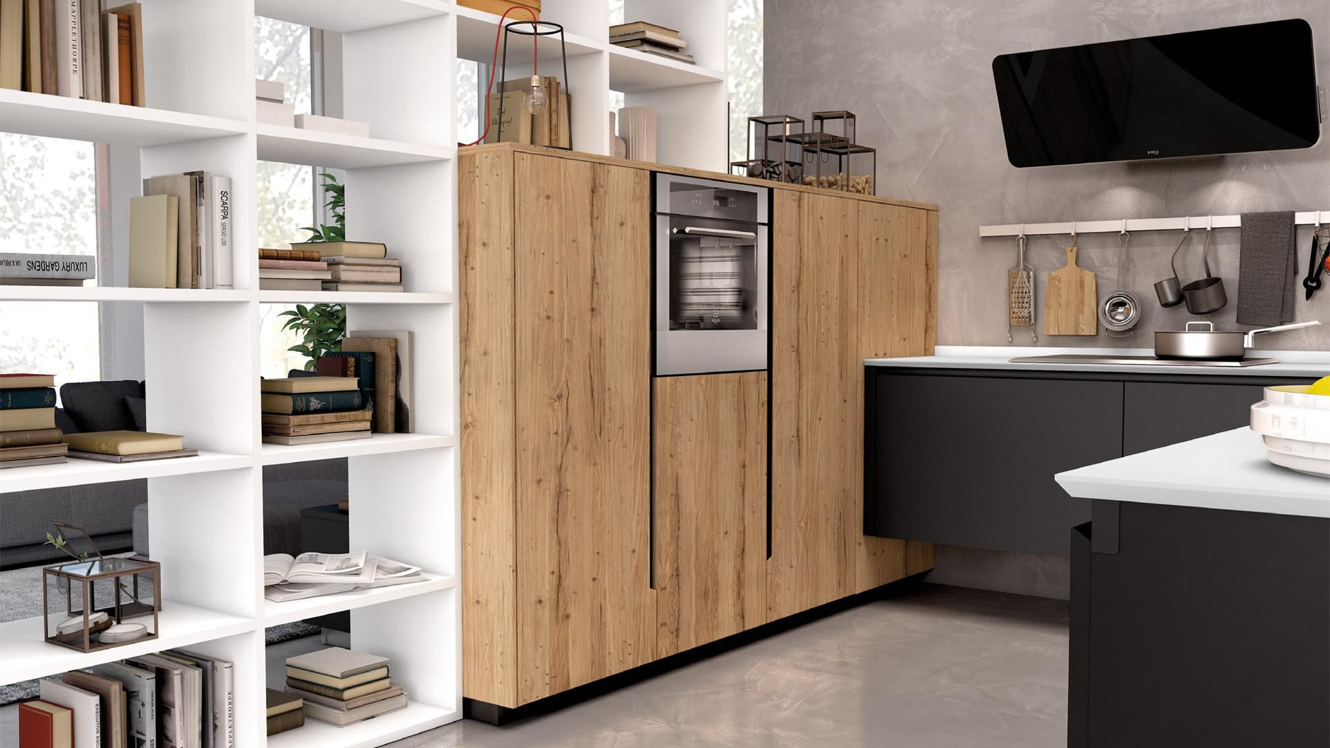 Cucina Moderna In Legno In Alluminio Laccata Oltre Cucine